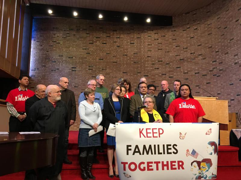 "In March, Illinois People's Action and other groups rallied at the Unitarian Universalist Church to support a proposal that would designate Bloomington and Normal as ""welcoming cities"" for immigrants."
