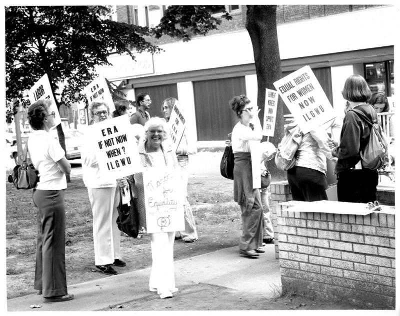 Demonstrations like these were common in the 1970s. The fight for an equal rights amendment has endured for four decades.