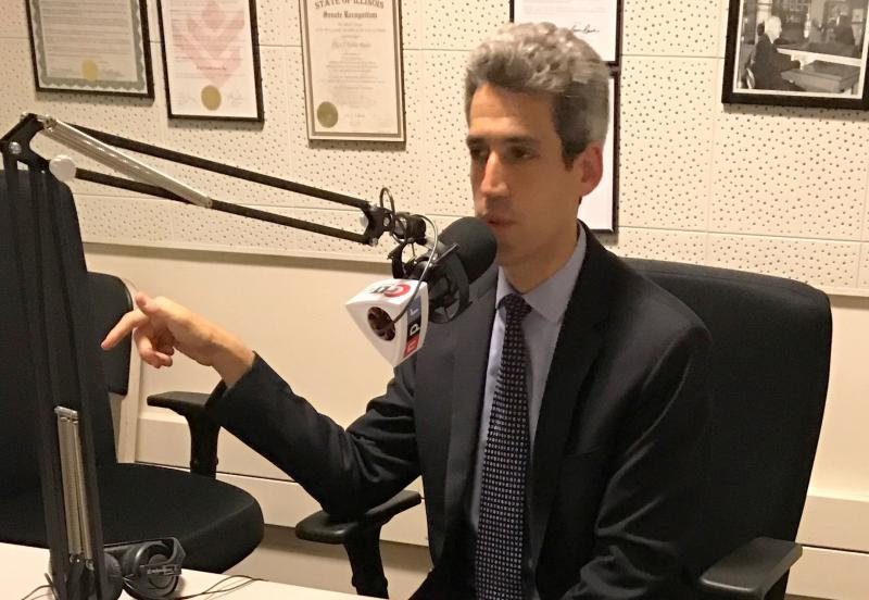 State Sen. Daniel Biss, D-Evanston, in the GLT studios on Wednesday, July 26, 2017.