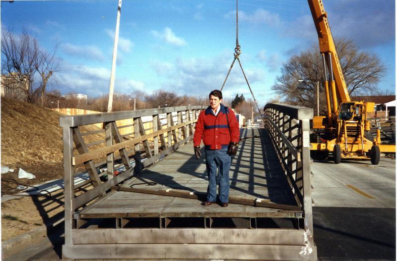 Ron Blemler standing on bridge