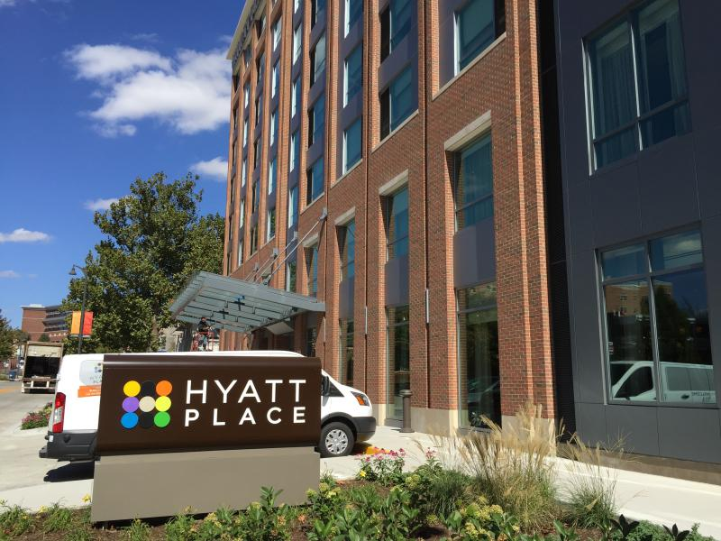 The Hyatt Place hotel in Uptown Normal.