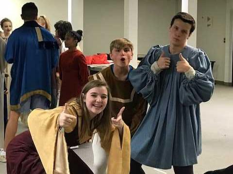 "From left, ""Once Upon a Mattress"" cast members Jessica Dolan, Charlie Adelman and Parker Dougherty."