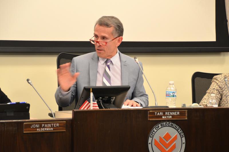 Bloomington Mayor Tari Renner at a recent council meeting.