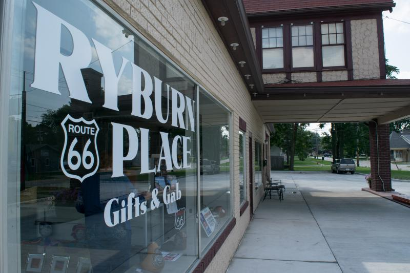 Ryburn Place has original items from local artists and fun Route 66 stuff.