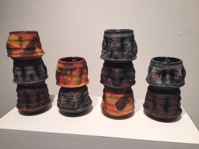 Justin Hayes' ceramics.