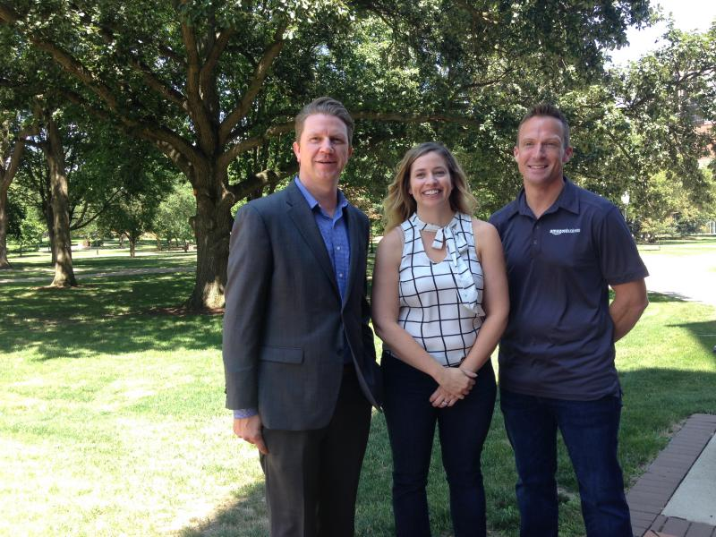 From left, EDC CEO Kyle Ham, Inspire International CEO Kristin Rae, and Amazon Business Seller Market Leader Colin Puckett.