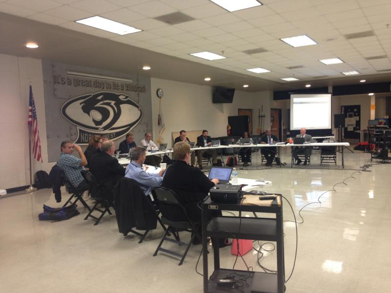 The Unit 5 school board met at Normal Community West High School on Wednesday, Aug. 23, 2017.