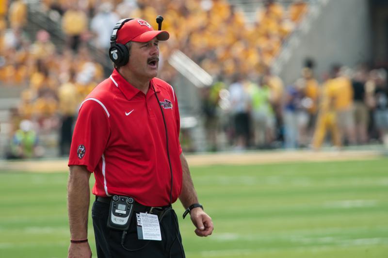 Redbird football coach Brock Spack.
