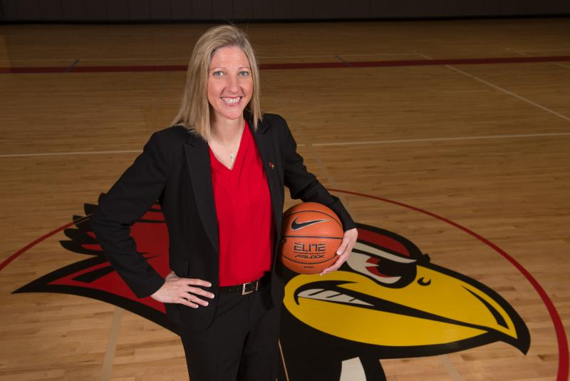 Illinois State University women's basketball coach Kristen Gillespie.
