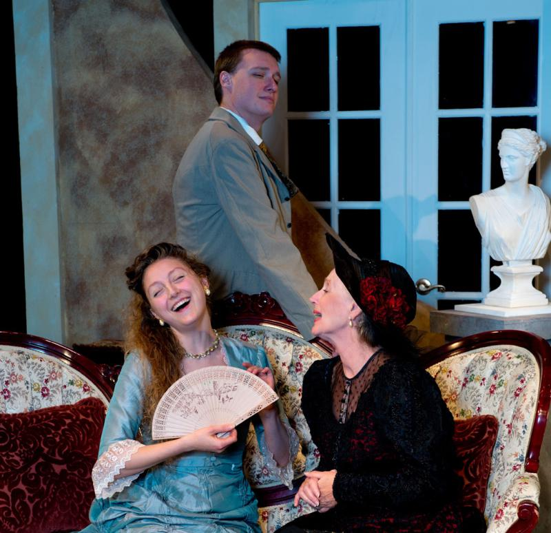 That's Kathleen Kirk on the right having a blast playing Lady Bracknell.