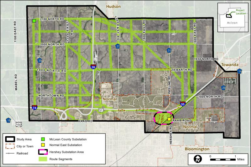 There are multiple ways for Ameren to route its proposed new high voltage line in McLean County.