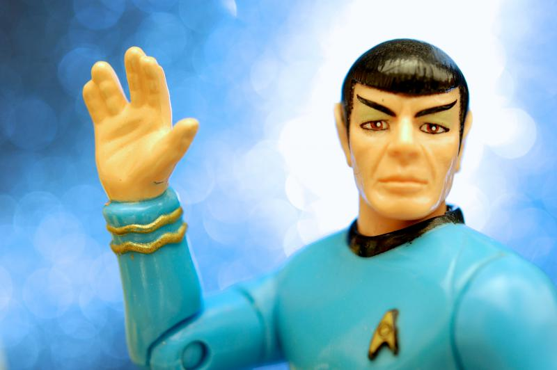 Reconciling the two aspects of his identity would help Spock more easily live long and prosper.