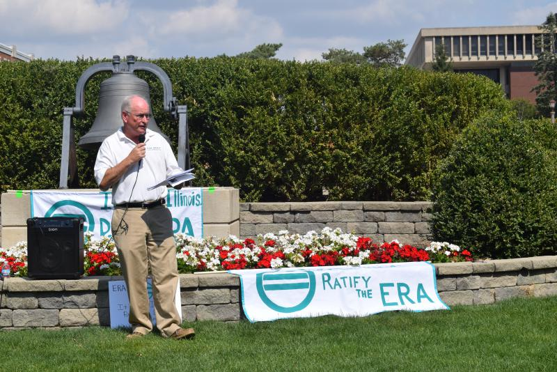 State Rep. Dan Brady, R-Bloomington, speaks during the Rally to Ratify event Saturday, Sept. 17, 2017.