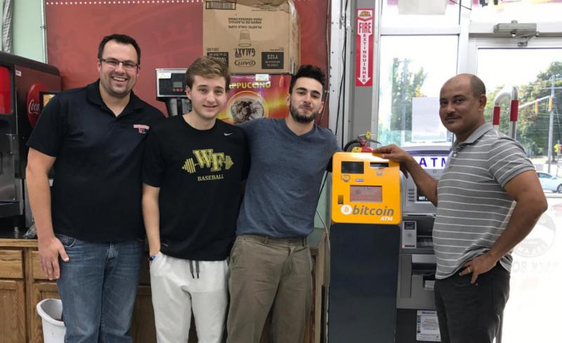The community's first bitcoin ATM is located inside the 707 Liquors on North Linden Street in Normal.