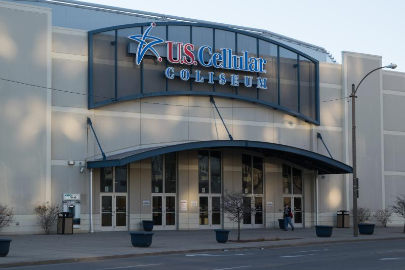 The former U.S. Cellular Coliseum in downtown Bloomington. It's now called Grossinger Motors Arena.
