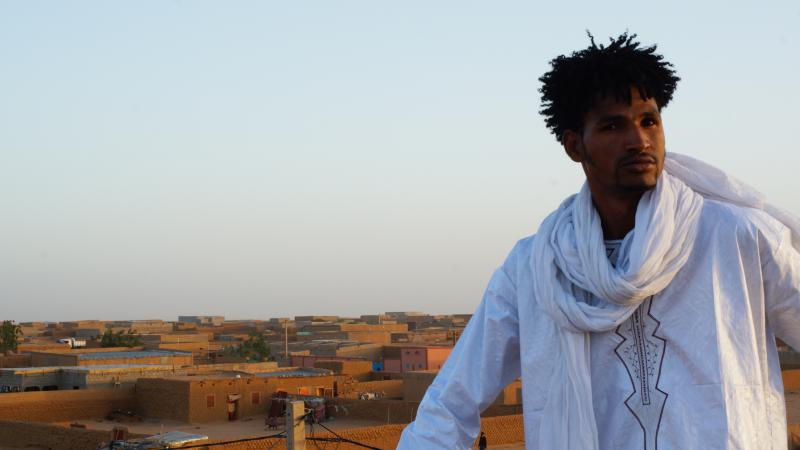 On a rooftop in Niger