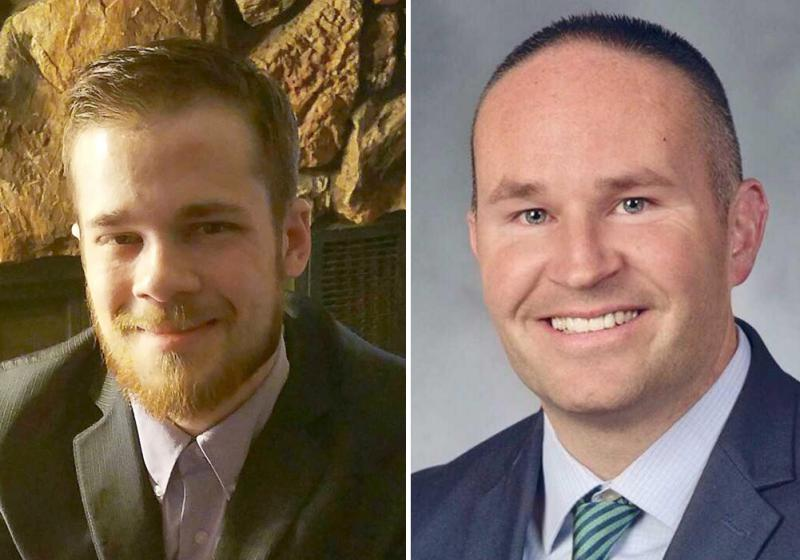 Democrat David Parker, left, and Republican Jeremy Bradley are running for McLean County Board.