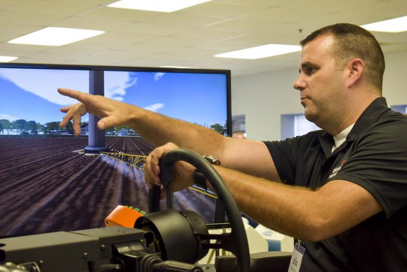 Erik Wilcox uses simulator