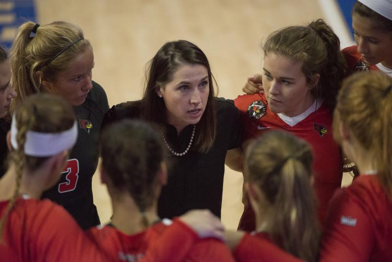 Illinois State volleyball coach Leah Johnson.