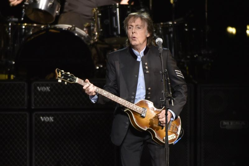 Paul McCartney performs on the One on One Tour at the Hollywood Casino Amphitheatre on Wednesday, July 26, 2017, in Tinley Park, IL. Sound Ideas Culture Commentator Bill McBride was in the audience.