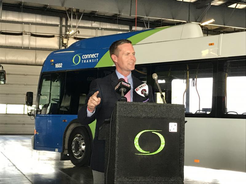 U.S. Rep. Rodney Davis during a news conference Tuesday, Sept. 19, 2017, at Connect Transit in Bloomington.