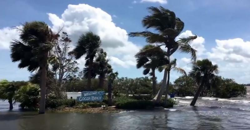 This is a screen capture from a Youtube Video posted by Cocoa Beach 365 Monday following Hurricane Irma