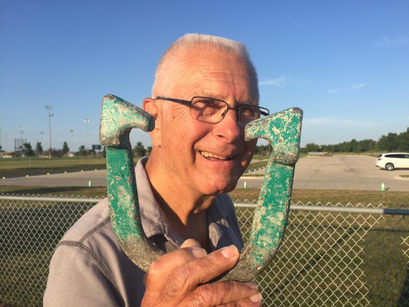 Bob Laskowski is a dedicated 30-year horseshoe pitcher.