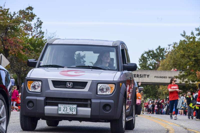 The GLT vehicle made an appearance in the ISU Homecoming parade on Saturday, Oct. 21, 2017.