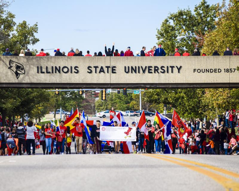 Homecoming parade at ISU