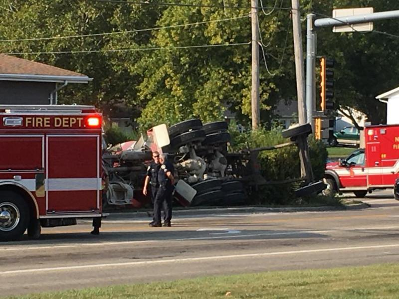 A photo of a car crash submitted by a member of the News Happening group on Sept. 23, 2017.