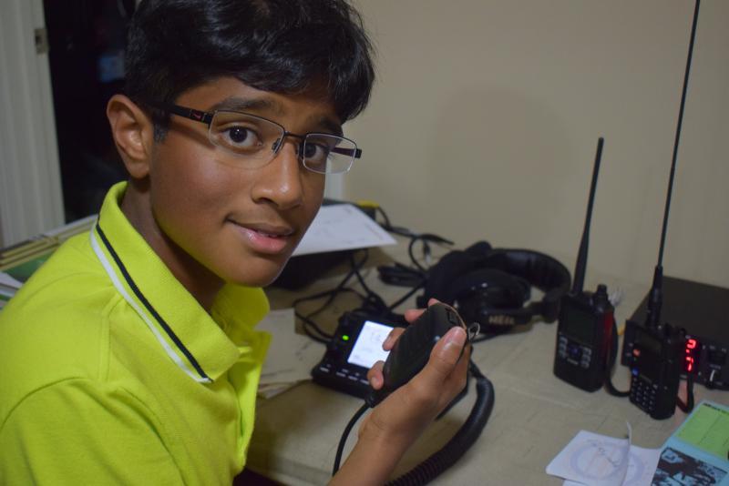 Dhruv Rebba, 13, got his general class ham radio license when he was 9.