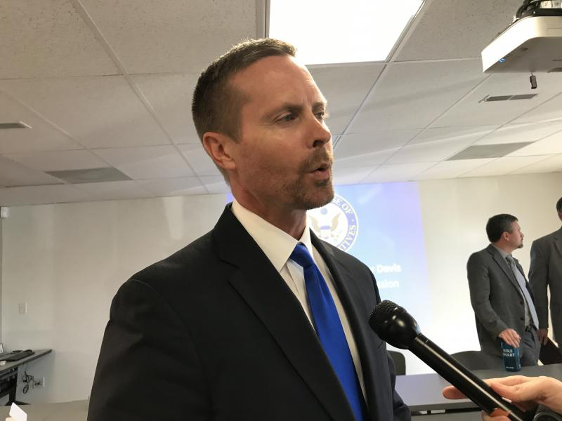 Rep. Rodney Davis, R-Taylorville, met with local officials Thursday about their concerns on cybersecurity.
