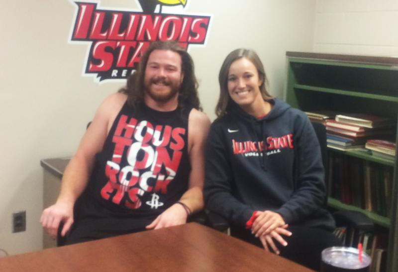 Dalton and Jaelyn Keene, student-athletes at Illinois State University.