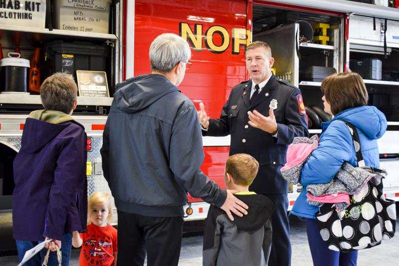 Public asking questions about the new fire department headquarters