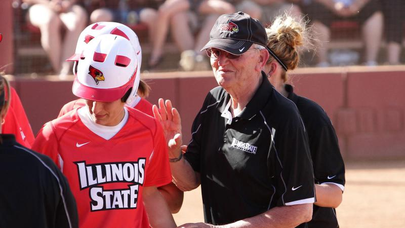 Longtime volunteer assistant softball coach Bill Dickson, who died last week.