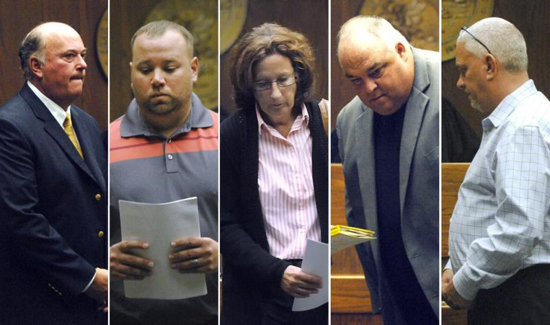 ohn Butler, Jay Laesch, Kelly Klein, Bart Rogers, and Paul Grazar in court