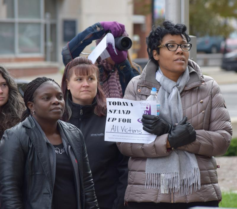Highlights from the domestic violence rally in downtown Bloomington on Monday, Oct. 30, 2017. It was organized by Mid Central Community Action.