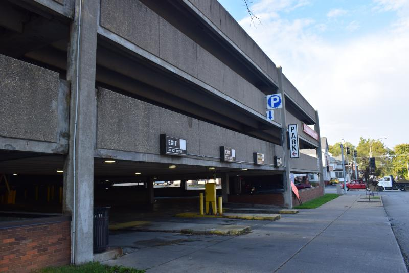 The Market Street parking garage. The next round of repairs on the aging garage will likely exceed $1 million, according to the downtown task force.