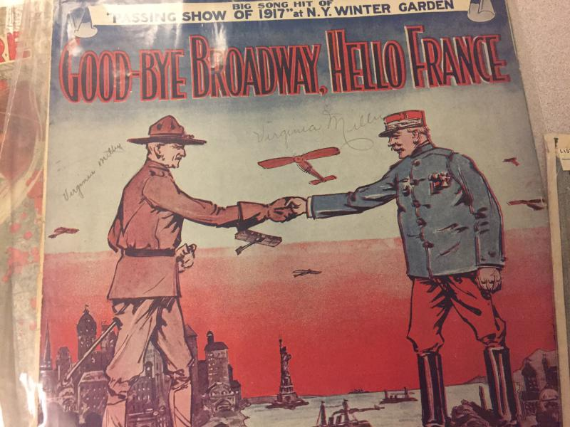 A popular song of the WWI era.