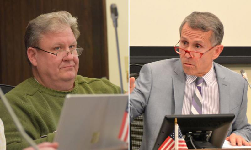 Alderman David Sage (l) and Mayor Tari Renner (r) have often clashed.
