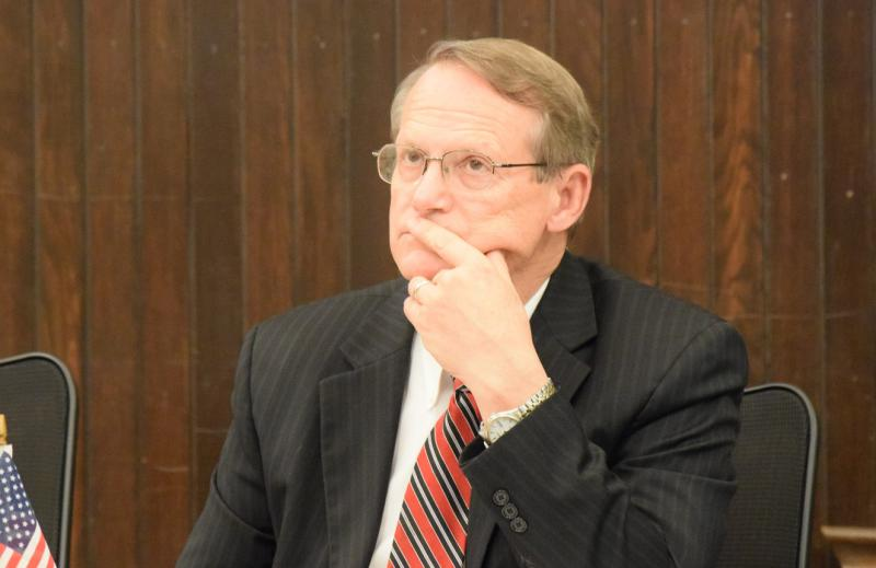 Interim City Manager Steve Rasmussen during the Nov. 13 Bloomington City Council meeting