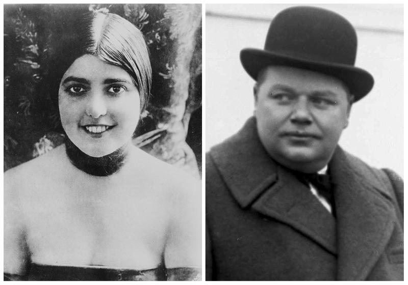 "Actress Virginia Rappe in 1921, left, and comedian Roscoe ""Fatty"" Arbuckle. In the first scandal to shake Hollywood, Arbuckle attended a wild party in San Francisco in 1921 ended in the death of starlet Rappe."