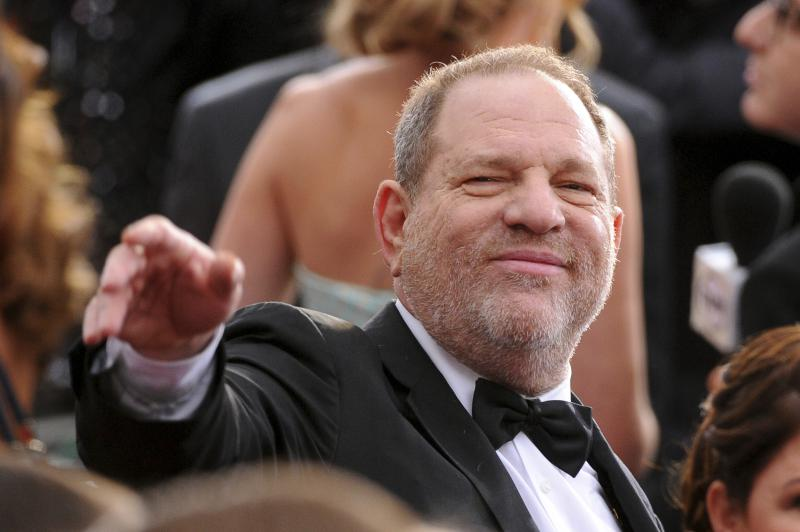 Harvey Weinstein arrives at the 2015 Oscars at the Dolby Theatre in Los Angeles. The Academy of Motion Picture Arts and Sciences revoked Weinstein's membership.