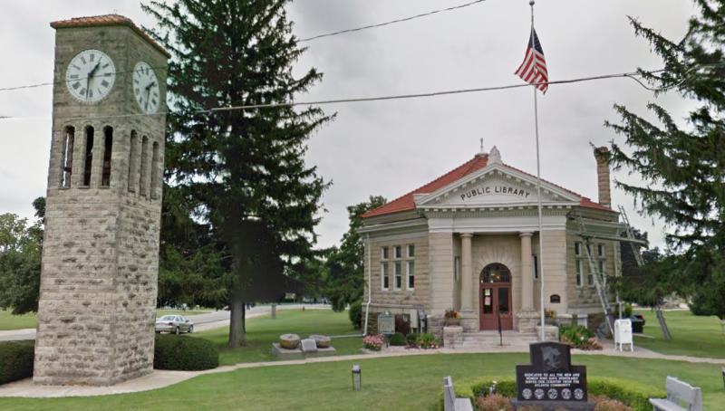 The library in Atlanta, Illinois, southwest of Bloomington-Normal.