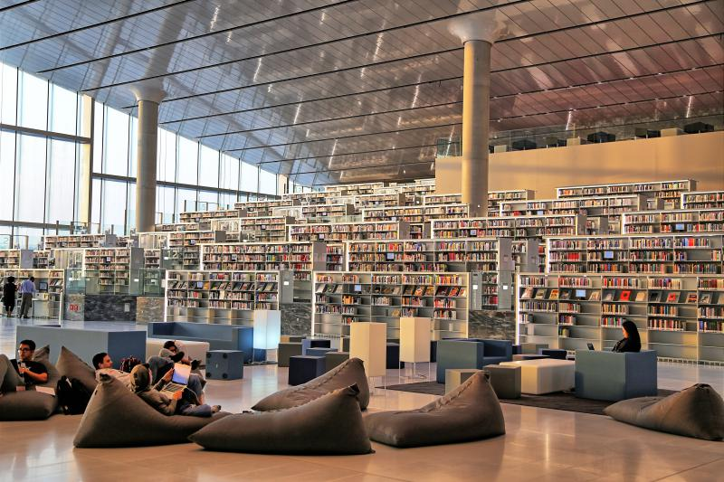 The Qatar Library is intended to be a social, civic, and cultural gathering place.