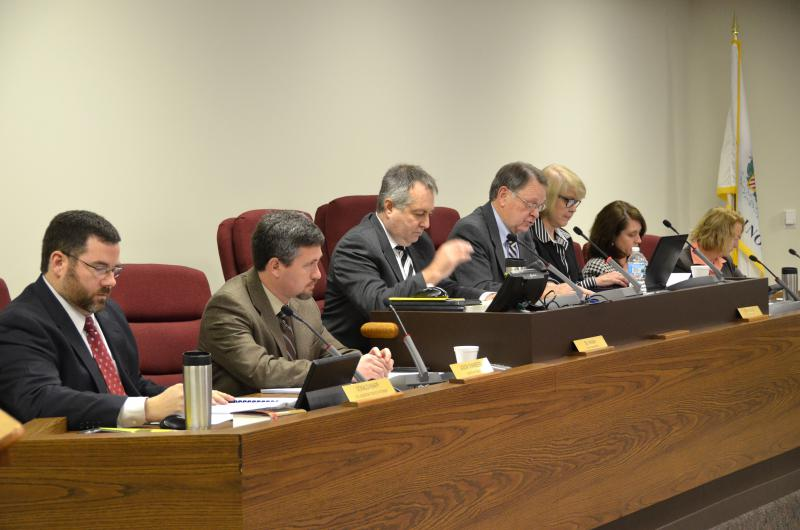 McLean County officials during a recent county board meeting.