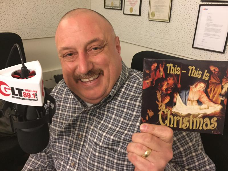 Jim Waldorf from Sound of Illinois shows off their new Christmas CD.