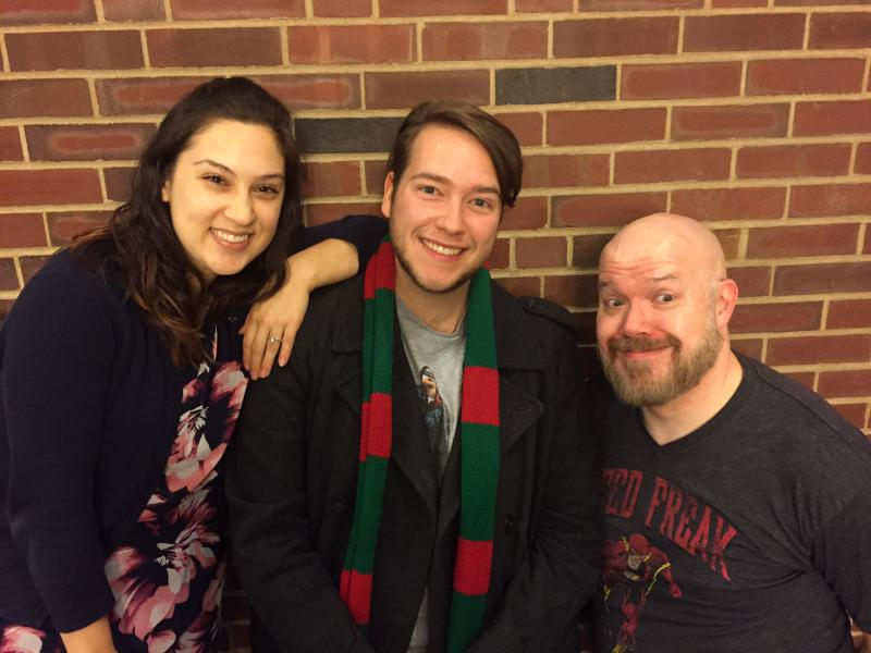 From left, actors Missy Freese, Chris Stevenson and Dave Montague.
