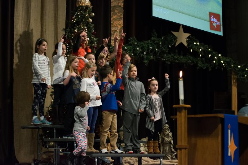 "Children's Choir at St. John's Lutheran Church performs ""Children, How Can I Send Thee."""