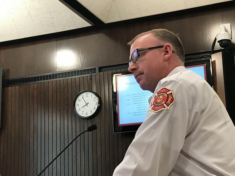 Bloomington Fire Chief Brian Mohr tells the council Monday he cannot rely on firemen working overtime to make up for having a shortage of 13 staffers for much longer.